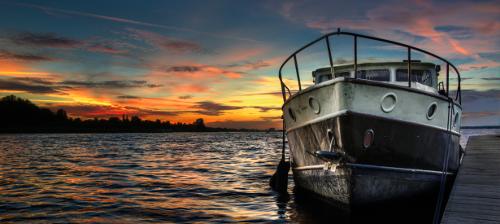 Rengöring båt